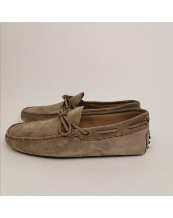 TOD'S - Suede New Laccetto Loafers - Peat
