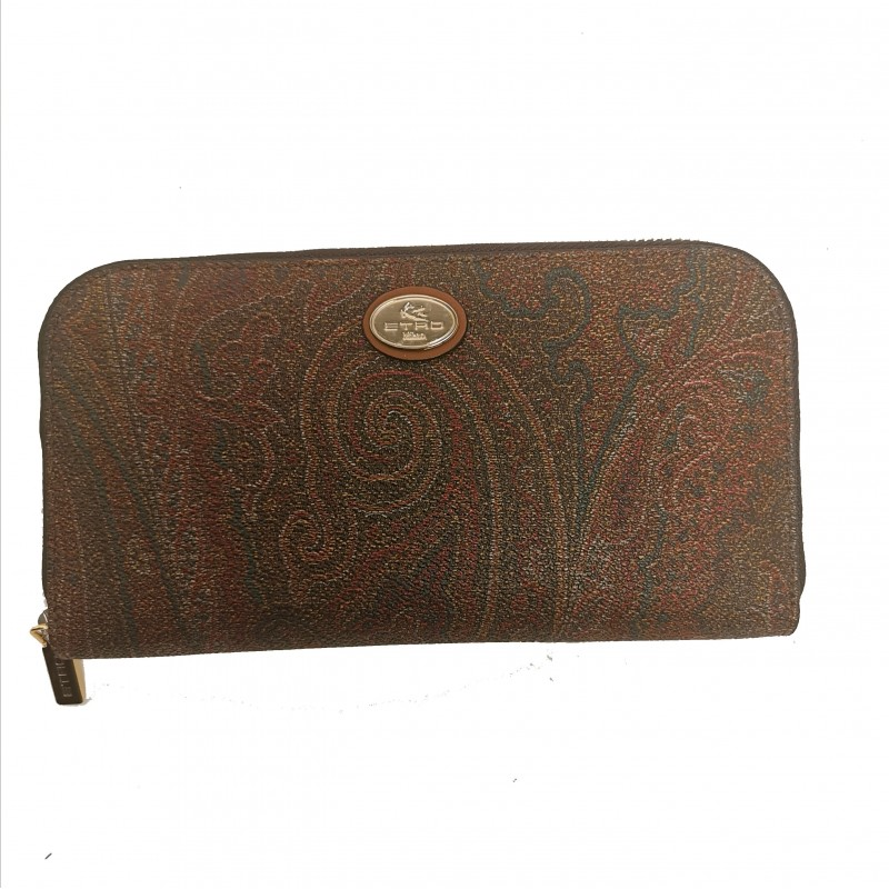 ETRO - Zip Around Leather Wallet- Paisley