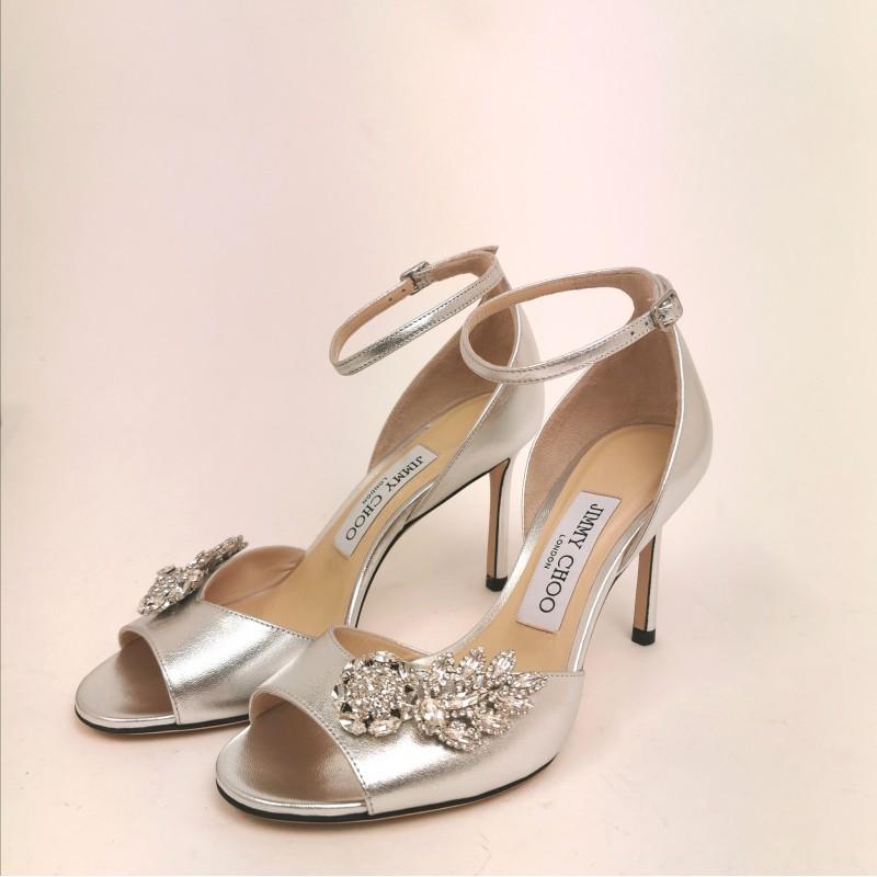 JIMMY CHOO -  Jewel sandal - Silver