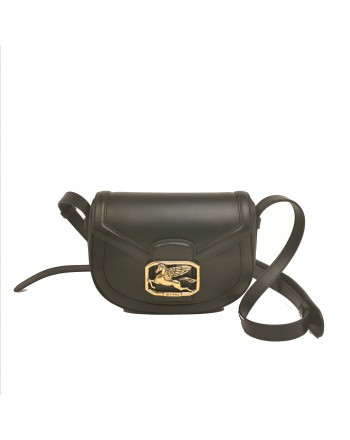 ETRO -Pegasus Logo Shoulder Bag - Black