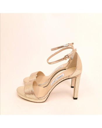 JIMMY CHOO -  Sandal Misty100 - Light Gold