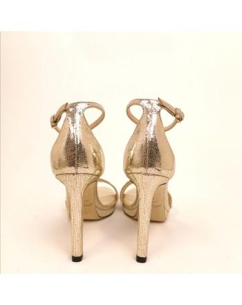 JIMMY CHOO - Sandalo Misty100 - Light Gold