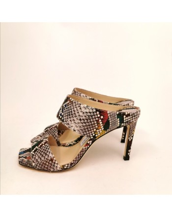 JIMMY CHOO - Sabot stampa snakes - Multimix