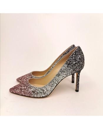 JIMMY CHOO - Glitter pumps - Pink/Silver