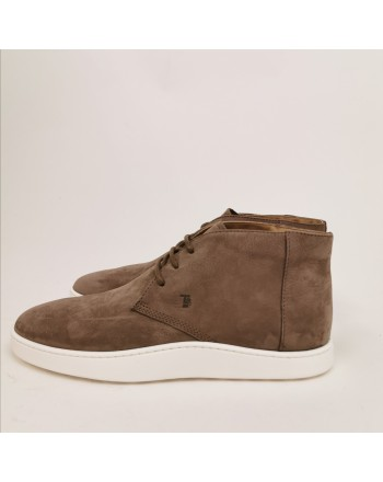 TOD'S - Ankle boots in suede leather - Light mud
