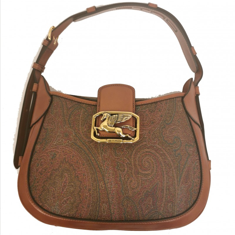 ETRO - Leather Bag with Pegasus Logo - Paisley