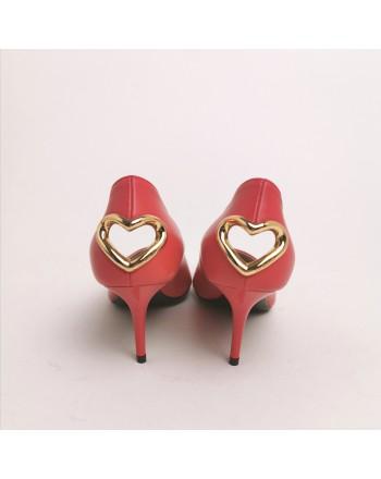 LOVE MOSCHINO - Decolletè con cuore - Rosso
