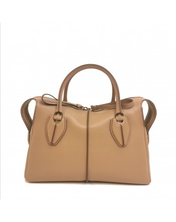 TOD'S - Leather Duffel Bag with Two Sliders - Light Tobacco