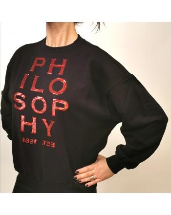 PHILOSOPHY di LORENZO SERAFINI - Felpa Logo LOVE - Nero