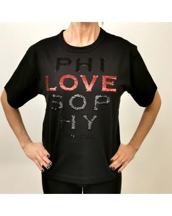 PHILOSOPHY di LORENZO SERAFINI - T-Shirt Logo LOVE  - Nero