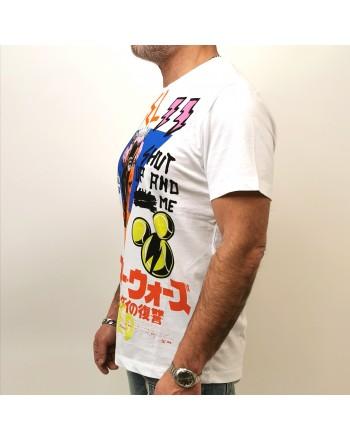 FRANKIE MORELLO - T-Shirt in Cotone Logo Fantasia - Bianco