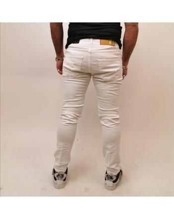 FRANKIE MORELLO - Jeans DAVINCI Skinny - Bianco