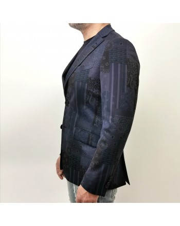 ETRO -Jersey Jacket with Paisley Pattern - Jeans