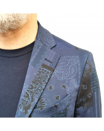 ETRO - Giacca in Jersey a Stampa Paisley - Jeans