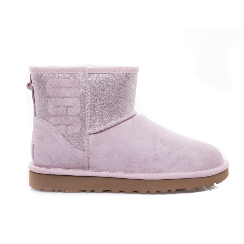 UGG - Classic Mini Logo SPARKLE Boot - Sparkle Pink