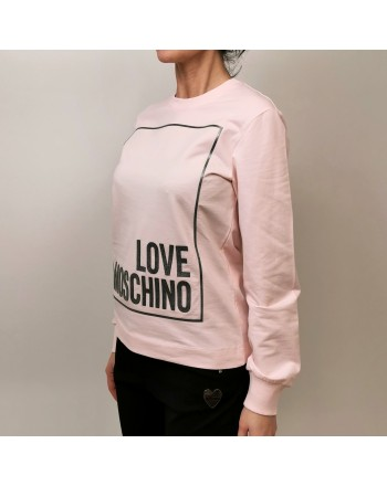 LOVE MOSCHINO - Cotton Sweatshirt with Print - Pink