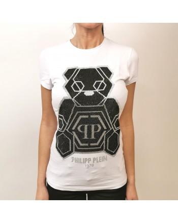 PHILIPP PLAEIN - Rhinestone Teddybear T-Shirt- White