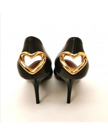 LOVE MOSCHINO - Decolletè con cuore - Nero