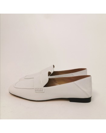 MICHAEL By MICHAEL KORS - Emery Leather Moccasin - White