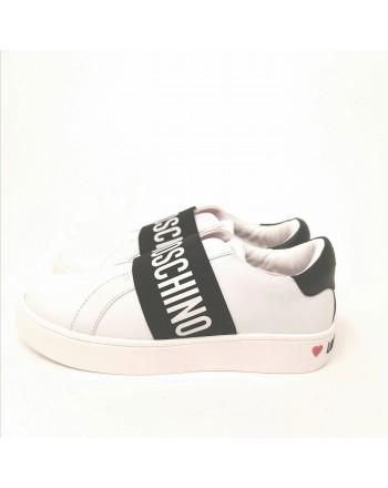LOVE MOSCHINO - Slip- on  Sneakers  - White/Black