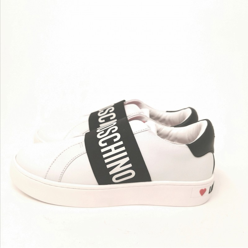 LOVE MOSCHINO - Sneakers con slip-on - Bianco/Nero