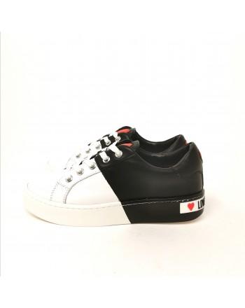 LOVE MOSCHINO - Sneakers con logo posteriore -Bianco/ Nero