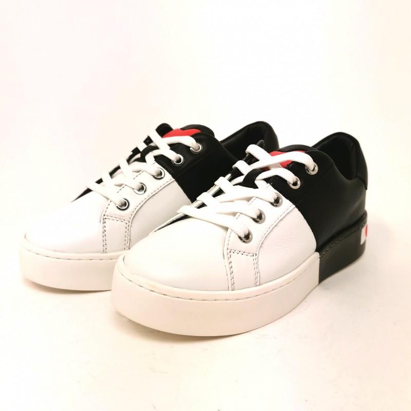LOVE MOSCHINO - Backside Logo Sneakers  - White/ Black