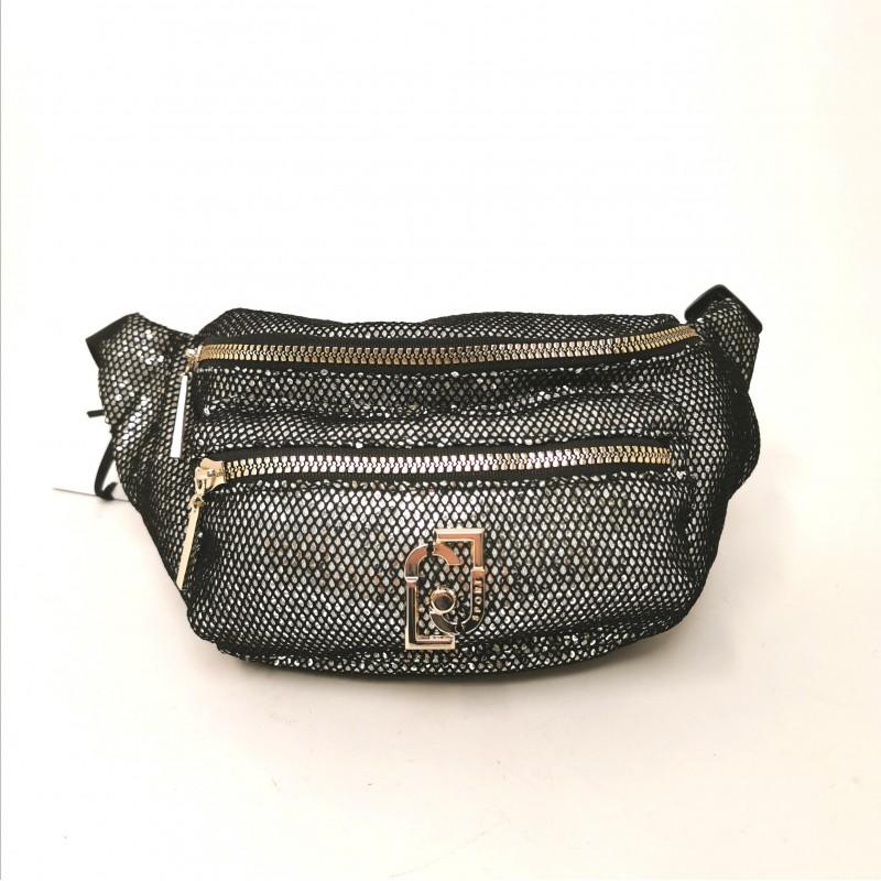 LIU JO SPORT -  Sequins pouch - Black/Silver