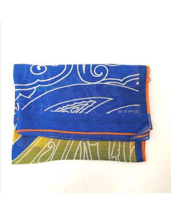 ETRO - Sciarpa DELHY - Azzurro/Giallo