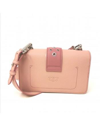 PINKO - Leather LOVE MINI ROMANTIC Bag - Light Pink/Pink