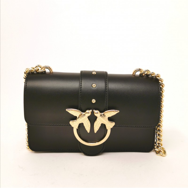 PINKO - Borsa in Pelle LOVE MINI SIMPLY - Nero