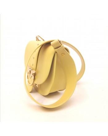 PINKO - GO ROUND Leather Bag - Yellow