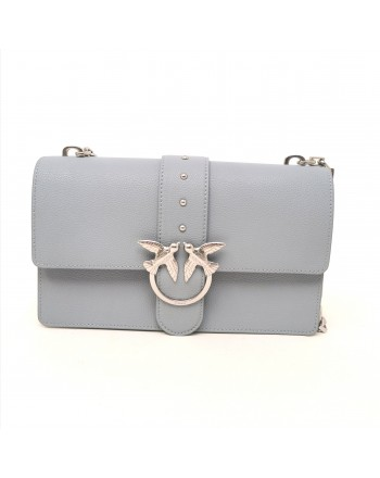 PINKO -  Leather Bag LOVE SIMPLY - Light Blue
