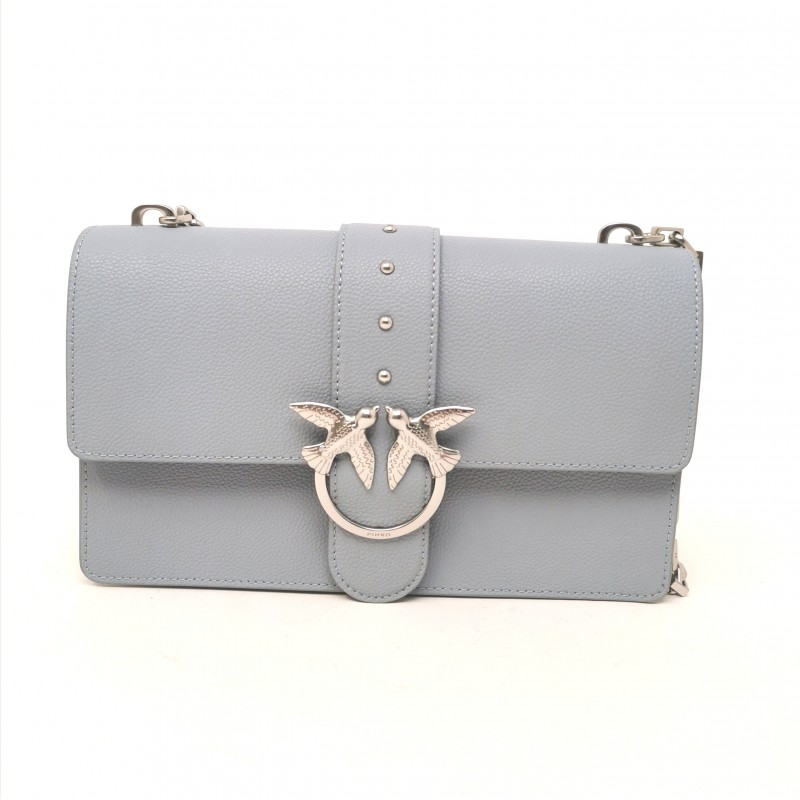 PINKO - Borsa in Pelle LOVE  SIMPLY - Light Blue