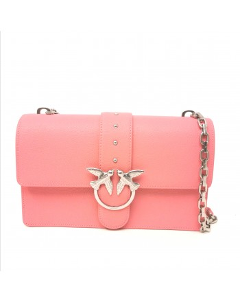 PINKO - Borsa in Pelle LOVE  SIMPLY - Bubble Pink