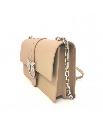 PINKO -  Leather Bag LOVE SIMPLY - Beige