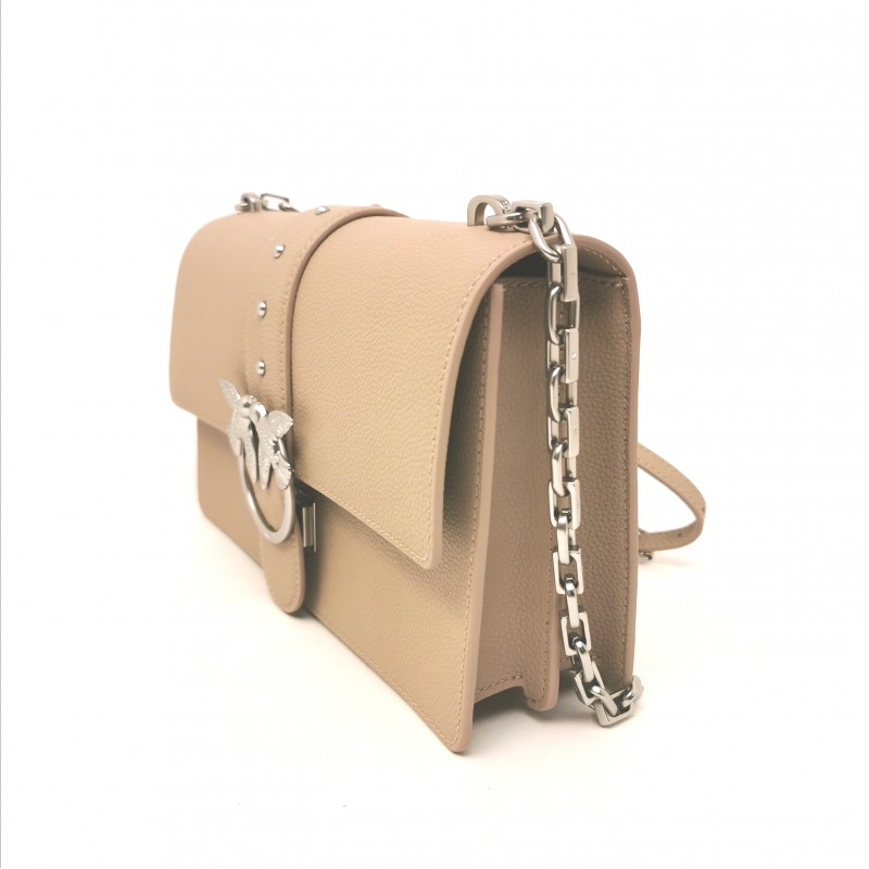 PINKO - Borsa in Pelle LOVE  SIMPLY - Beige