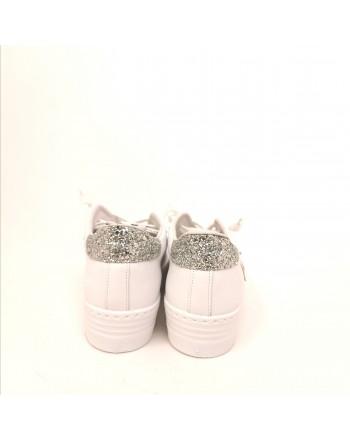 2 STAR - Sneakers Platform  - Bianco/Argento