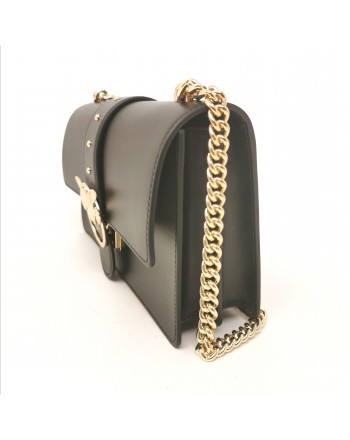 PINKO - Borsa in Pelle LOVE SIMPLY - Nero