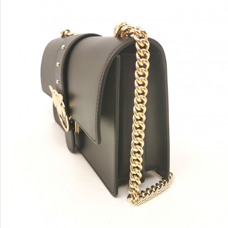 PINKO - Leather Bag LOVE SIMPLY - Black