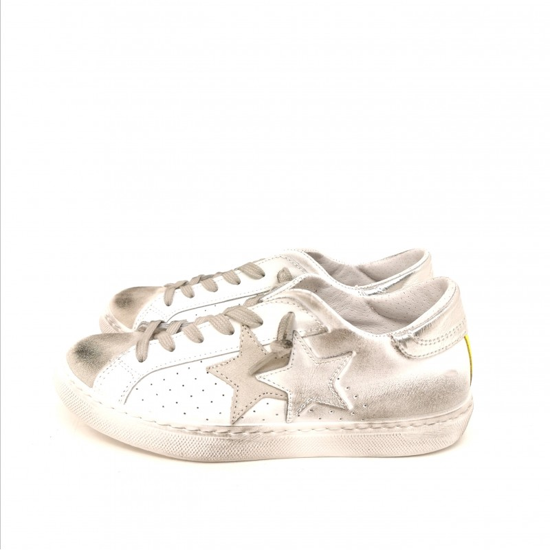 2 STAR - Used Style Sneakers - White/Neon Yellow