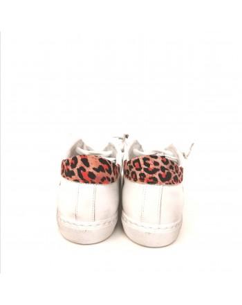 2 STAR  - Sneakers Dettaglio Maculato - Bianco/Maculato Rosso
