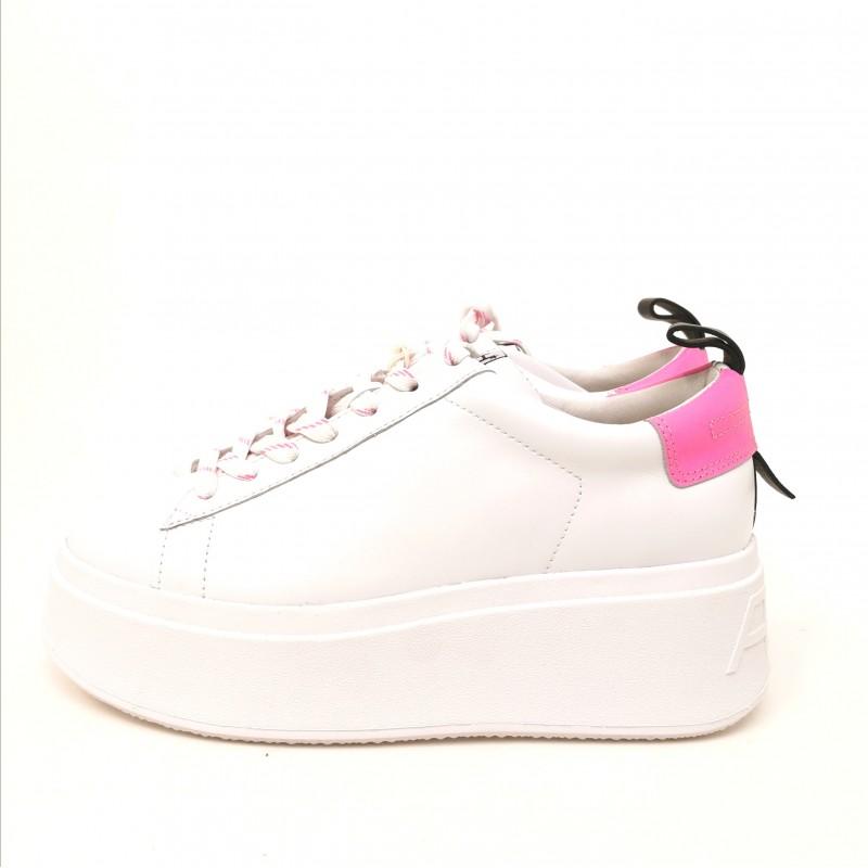 ASH - Platform Sneakers - White/Pink
