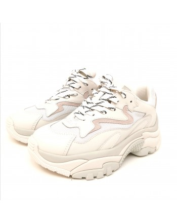 ASH - Sneakers ADDICT in Nappa- Biaco/Mesh