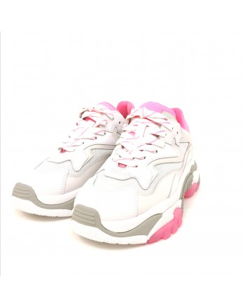 ASH - Leather Sneakers ADDICT - White/Deep Pink