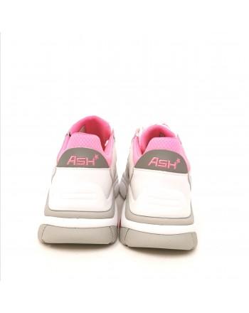 ASH - Sneakers ADDICT in Nappa- Bianco/Rosa
