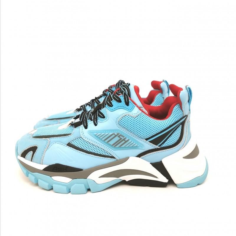 ASH - Sneakers in nappa - Azzurro/Brasil