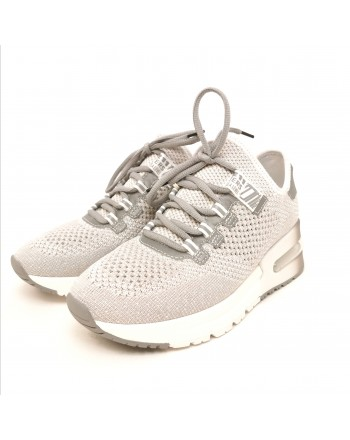ASH - Krush Lurex Sneakers - Grey/Lurex/Silver