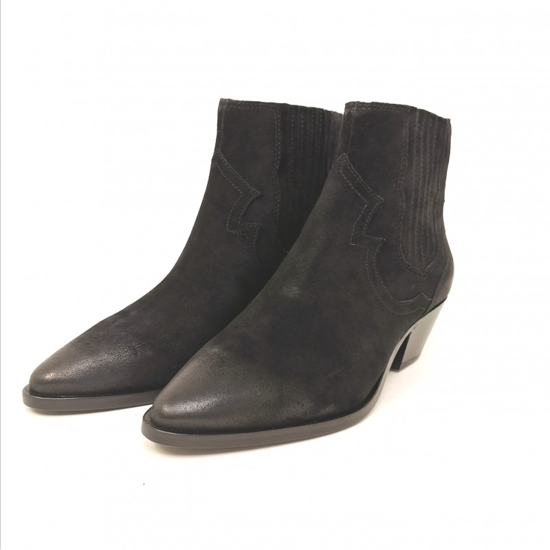 ASH - Suede Texan boots - Black