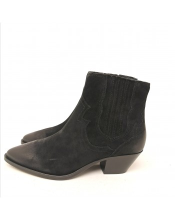 ASH - Suede Texan boots - Black